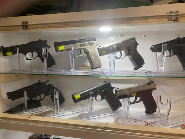 Newhaven Sports Image of a selection of pistols