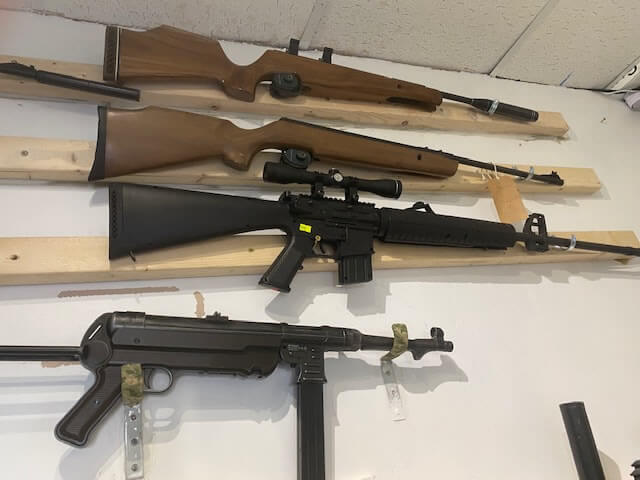 Newhaven Sports Image of a selection of rifles